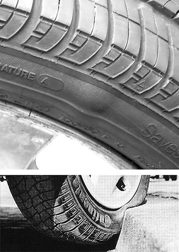 bublina na bočnici pneumatiky