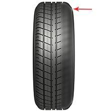zjazdená strana pneumatiky