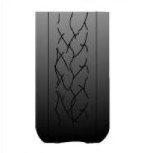 zjazdené okraje pneumatiky