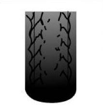 zjazdený stred pneumatiky